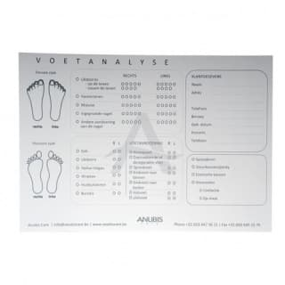 Voet-analyse kaart pedicure (Voet-analyse kaart pedicure)